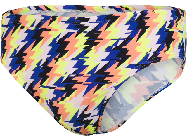 speedo 8cm Allover Briefs Men, glitchstrike siren red/blue flame/fluo yellow